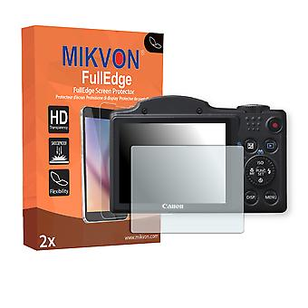 Canon PowerShot SX500 IS screen protector - Mikvon FullEdge (screen protector with full protection and custom fit for the curved display)