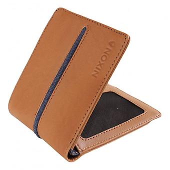 Nixon Küsten Showdown Bi-Fold Zip Wallet - Tan