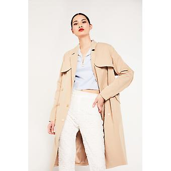Aeryne dubbel Breasted trenchcoat
