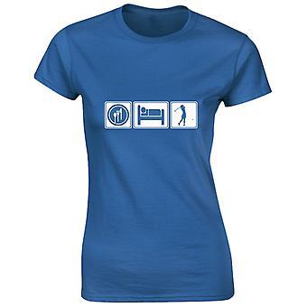 Eat Sleep Golf Womens T-Shirt 8 Colours (8-20) by swagwear
