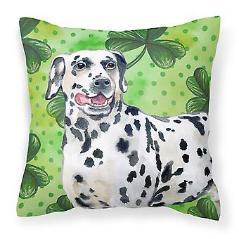 Dalmatian St Patrick's Fabric Decorative Pillow