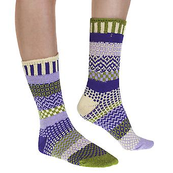 Orchid recycled cotton multicolour odd-socks | Crafted by Solmate