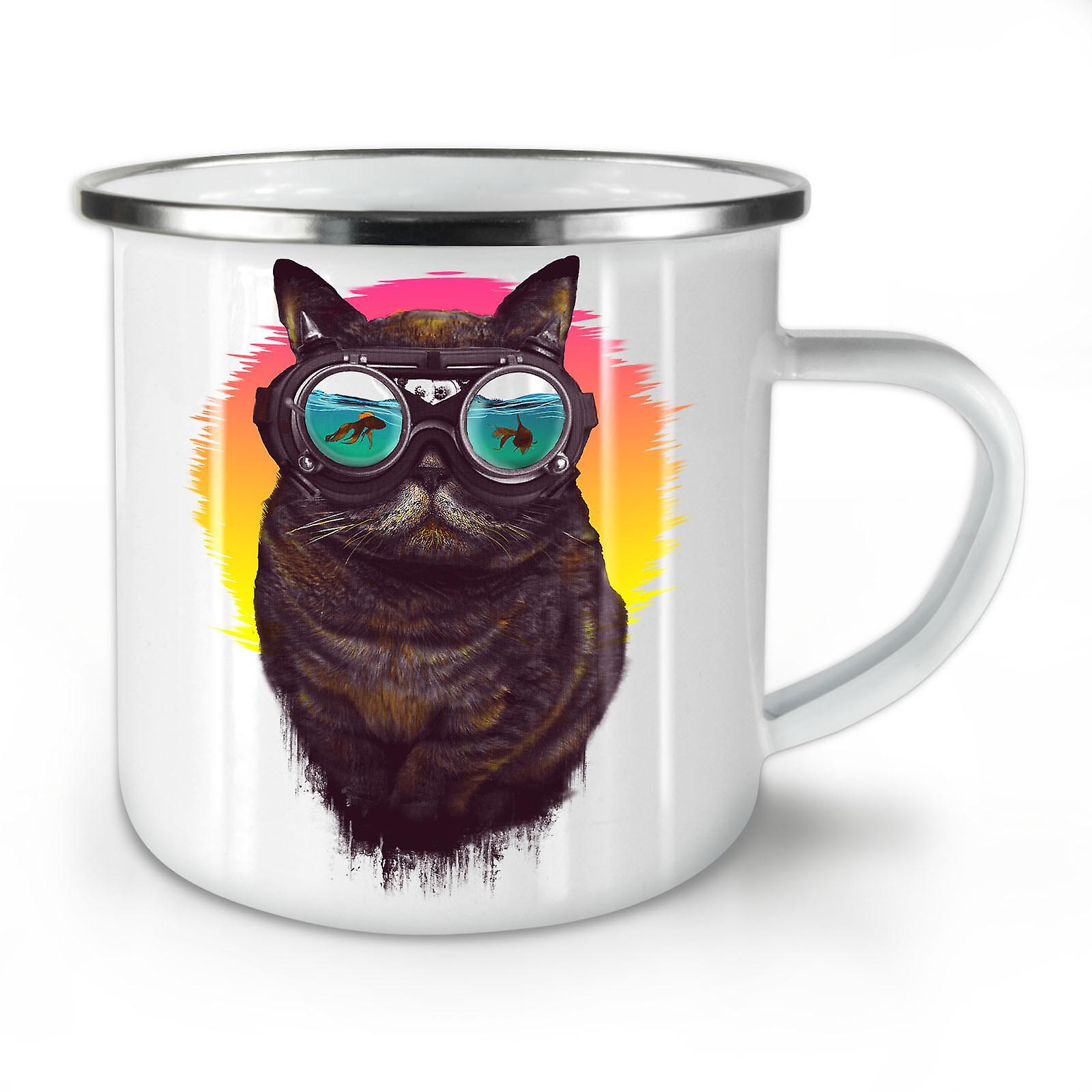 Whitetea Cool OzWellcoda Cat Coffee Enamel Glasses New Mug10 Hippie EDH9WI2