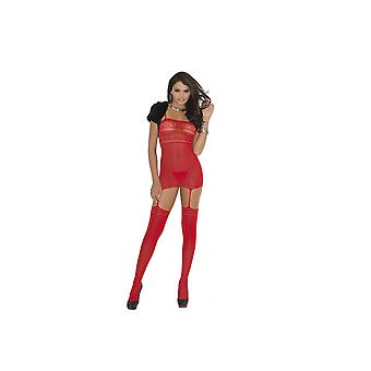 Elegant Moments EM-1680 Opaque suspender Bodystocking Also in plus size