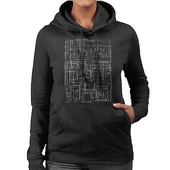 Apple II Computer Schematic Women's Hooded Sweatshirt