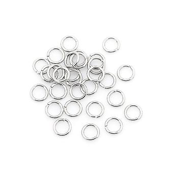 Packet 110+ Silver 304 Stainless Steel Round Open Jump Rings 0.7 x 6mm Y00575