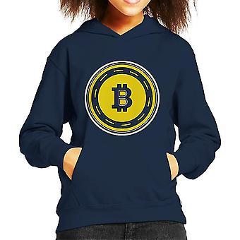 Bitcoin Gold Coin Kid's Hooded Sweatshirt