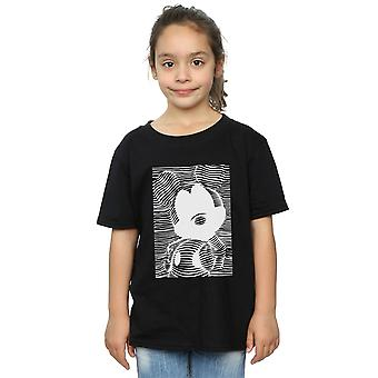 Disney Girls Mickey Mouse Lines T-Shirt