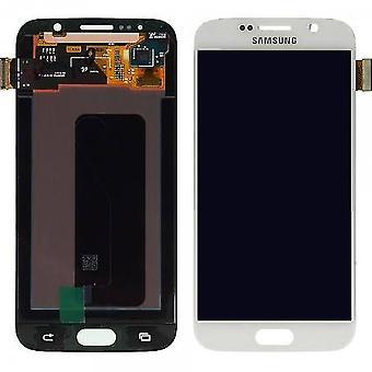 Ægte hvid Samsung Galaxy S6 LCD skærm forsamling