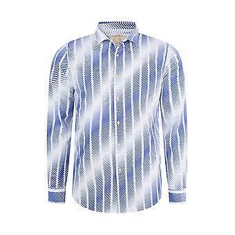 Fabio Giovanni Palanzano Shirt - Mens Italian Casual Stylish Shirt 100% Cotton - Long Sleeve