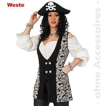 Pirat Seeräuberin Halloween Panie kostium czaszka kobiety kamizelki