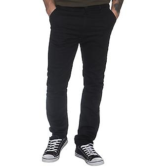 Mens Tapered Fit Black Stretch Pants