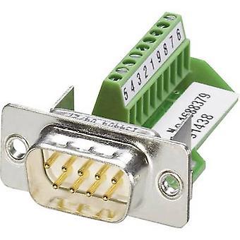Phoenix Contact VS-09-ST-DSUB/10-MPT-0,5 D-SUB plug 180 ° Number of pins: 9 Screws 1 pc(s)