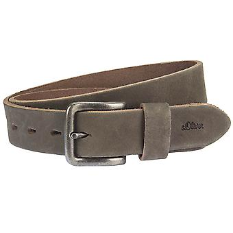 s.Oliver mens leather buckle riem 97.610.95.7065-8552