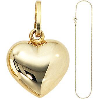 Амулеты, небольшой сердце возлюбленной 333 золота с цепи 45 см золото сердца