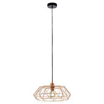 Eglo Carlton Saucer Geometric Copper Island Pendant Light
