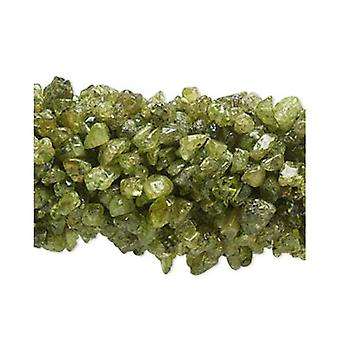 Long Strand 200+ Green Peridot 5-8mm Chip Beads FM8993