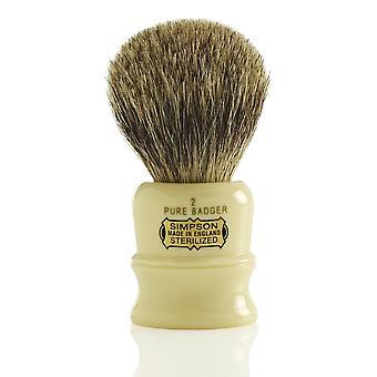 Simpsons Duke Pure Badger Shaving Brush - D2
