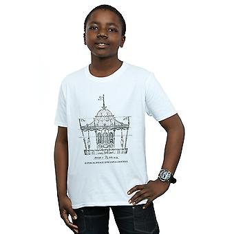 Disney Boys Mary Poppins Carousel Sketch T-Shirt