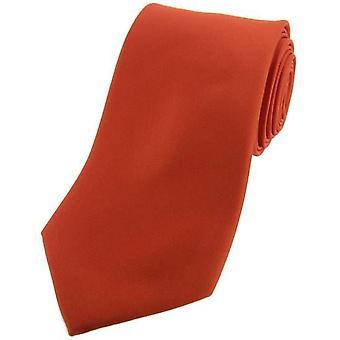 Дэвид ван Хаген сатин Шелковый галстук - сожжены оранжевый