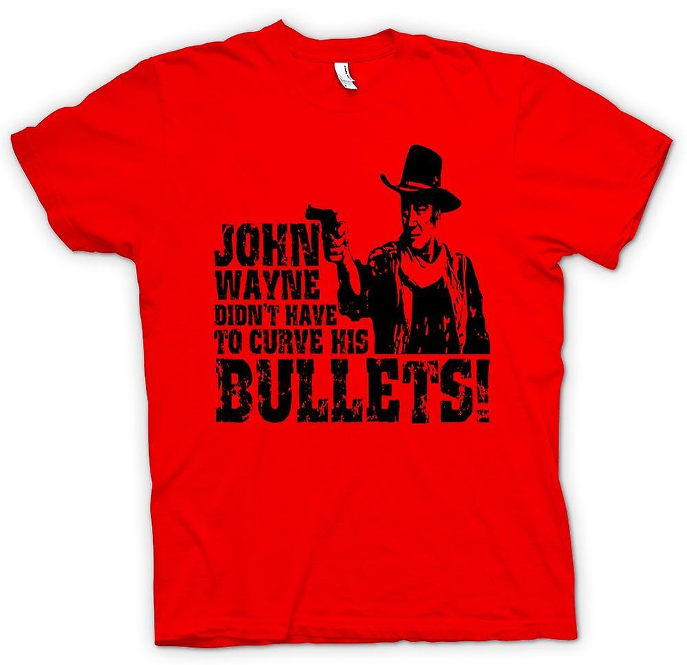 Camiseta para hombre - John Wayne curvado - vaquero