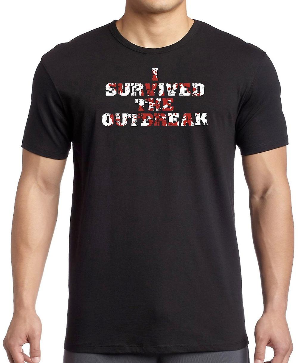 I Survived The Outbreak - Funny Zombie Women T Shirt