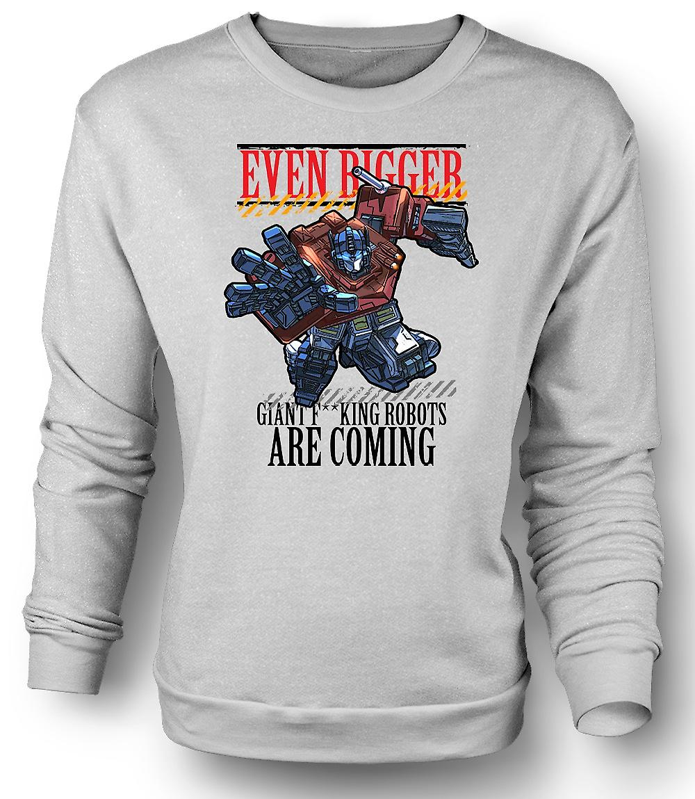 Mens Sweatshirt Transformers Giant - F*cking Robots