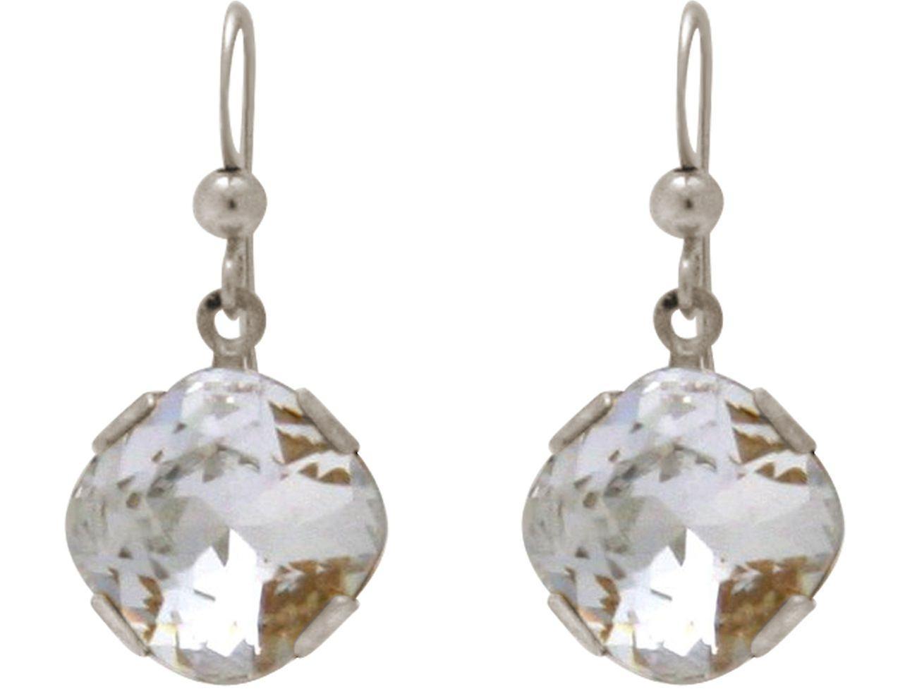 Gemshine femmes Ohrbaguee mit Kristallen MADE WITH SWAROVSKI ELEHommesTS. boucles d'oreilles aus argent oder hochwertig veroret - Nachhaltiger, qualitätsvoller Schmuck