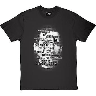 George Orwell, quien controla camiseta el pasado hombres