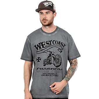 West Coast Choppers Vintage Black Divide and Conquer T-Shirt