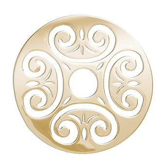 Lucet Mundi Yellow Goldtone 'Love Scroll' Coin for Interchangeable Locket