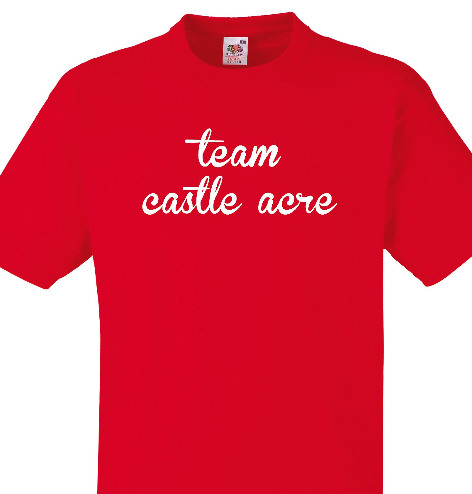 Team Castle acre Red T shirt