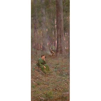 The pioneer,Frederick Mccubbin,80x30.75cm