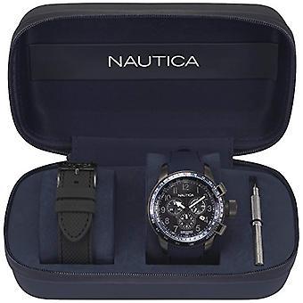 Nautica Analogueico Watch quartz men with Silicone strap NAPGLY001