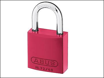 ABUS 72/40 40mm Aluminium Padlock Red Keyed TT02162