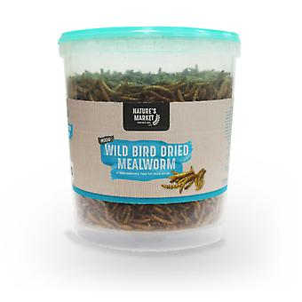 Natures Market 400g Tub of Dried Meal Worm Feed Wild Bird Mealworm Food