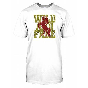 Wild And Free - Cool Horse Kids T Shirt