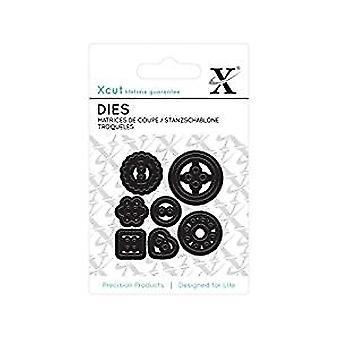 Xcut Mini Die - (7pcs) Buttons (XCU 503612)