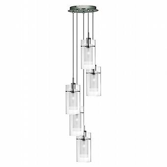 Searchlight Duo I 2305-5 5 Modern Pendant