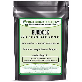 Burdock - 10:1 Natural Root Extract Powder (Arctium lappa L.)