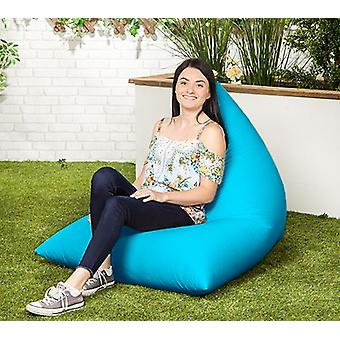 Turquoise Water Resistant Outdoor Filled Bean Bag Lounger