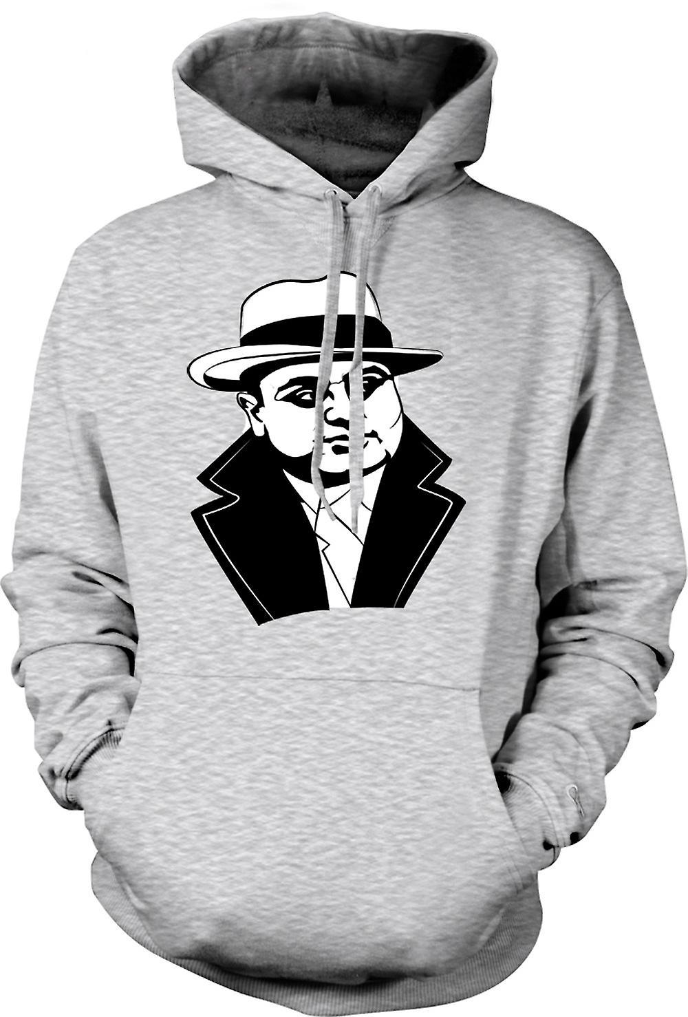 Mens Hoodie - Al Capone - Gangster