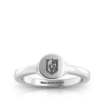 Vegas Golden Knights-Knights logo graveret signet ring