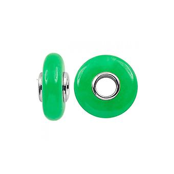 Storywheels Silver & Green Jade Charm S353GRE