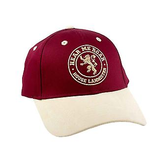 Game of Thrones Baseball Cap House Lannister Here me Roar Official Red Strapback