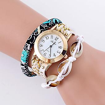 Casey Shell Charms Wrap Watches-White