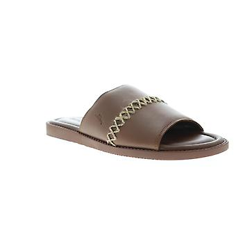 Tommy Bahama Adwin TB9M0115 Mens Brown Leather Slip On Slides Sandals Shoes