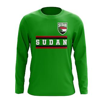 Sudan Core Calcio Paese Long Sleeve T-Shirt (Verde)