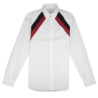 Givenchy stripete skulder skjorte hvit
