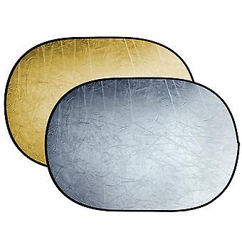 BRESSER BR-TR5 opvouwbare reflector goud/zilver 100x150cm